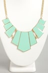 Pretty Mint Necklace Mint Green Necklace Statement Necklace 1500