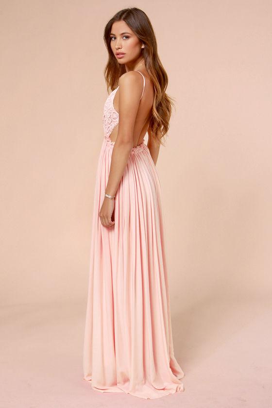 Pretty Pink Dress Crochet Dress Maxi Dress Lace Dress 5400