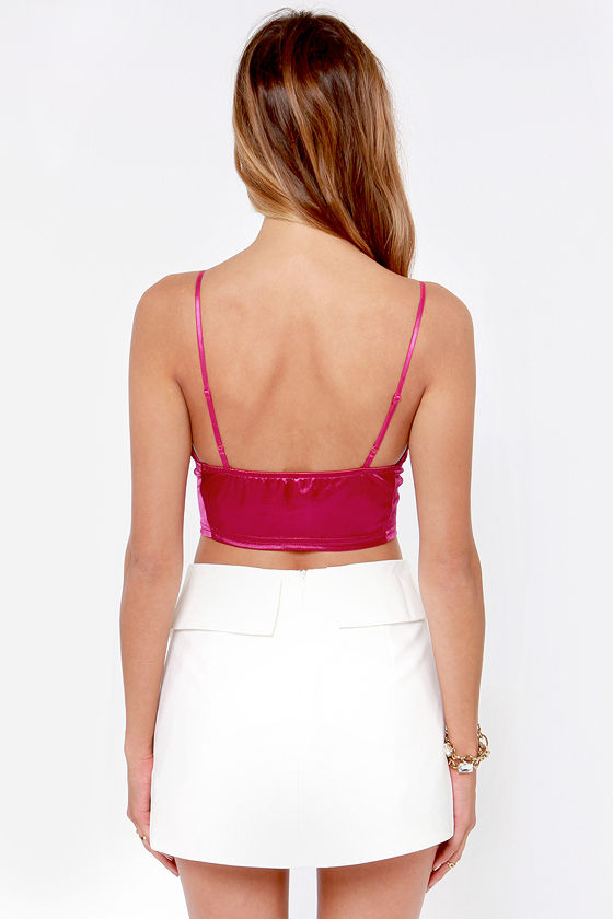 LULUS Exclusive Disco Diva Magenta Crop Top at Lulus.com!