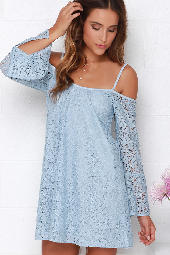 Light Blue Dresses with Sleeves