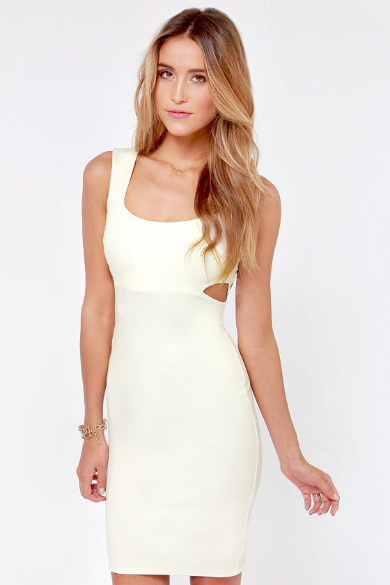 X-pect the Best Backless Ivory Dress at Lulus.com!