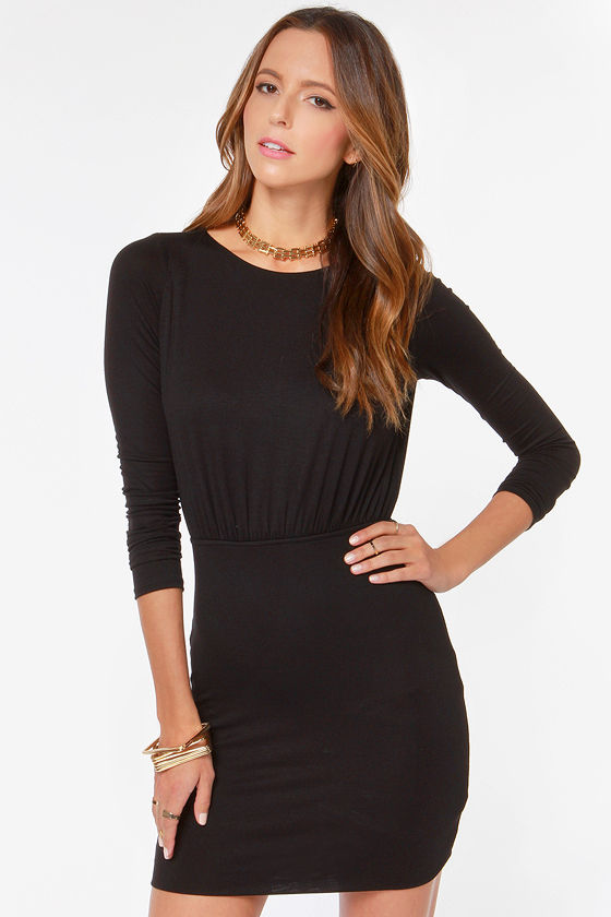 LULUS Exclusive Uptown Bound Cutout Black Dress at Lulus.com!