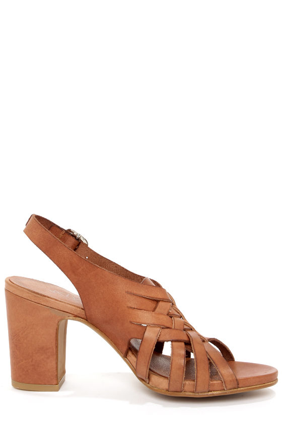 Sixtyseven 75746 Heather Vachetta Brandy High Heel Sandals at Lulus.com!