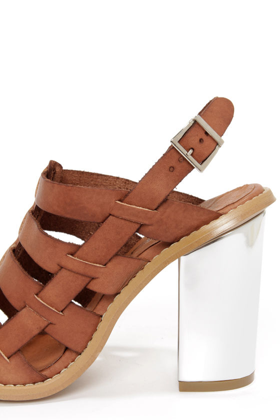 Sixtyseven 75936 Larissa Vachetta Brandy High Heel Sandals at Lulus.com!