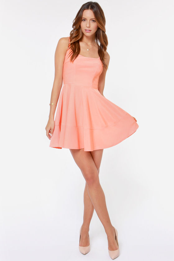 Home Before Daylight Peach Dress at Lulus.com!