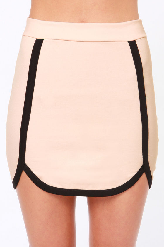 Chic My Language Light Pink Mini Skirt at Lulus.com!