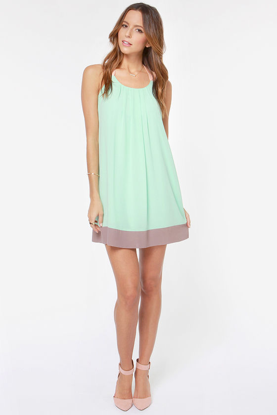 LULUS Exclusive Sorbet Soiree Mint Shift Dress at Lulus.com!