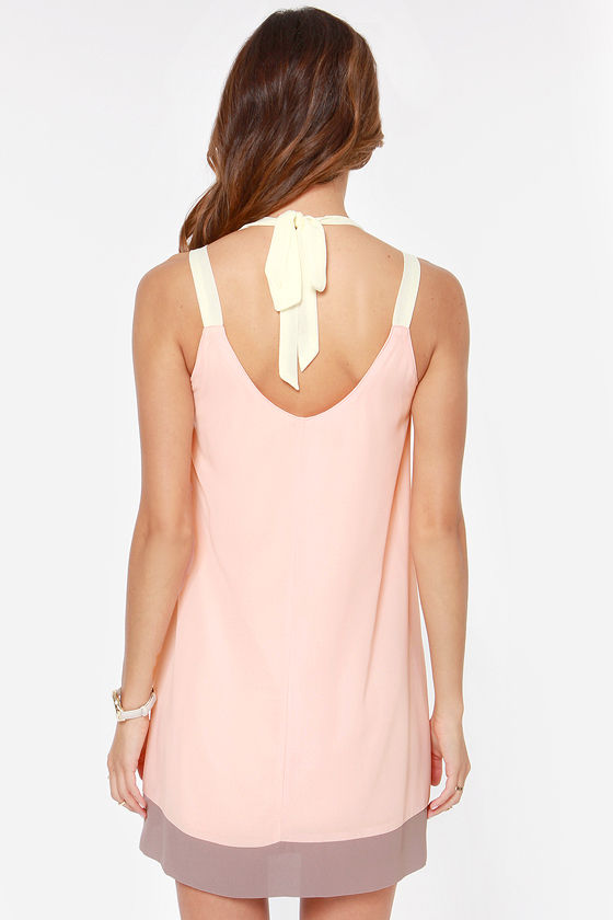 LULUS Exclusive Sorbet Soiree Peach Shift Dress at Lulus.com!