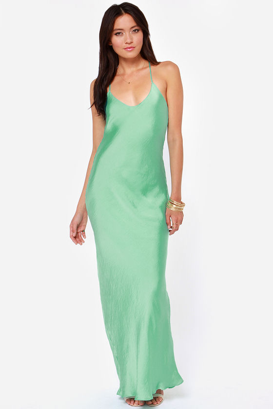 It Must Be Love Mint Green Maxi Dress at Lulus.com!