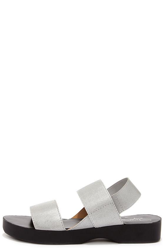 Cute Silver Sandals Flat Sandals 59 00