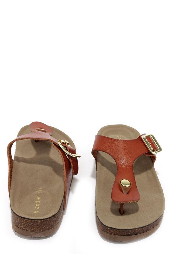 2fa8f684967e3 Cute Buckled Sandals - Thong Sandals - Brown Sandals -  39.00