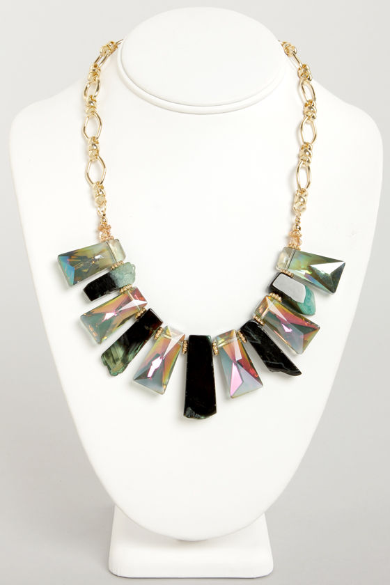 Mystical Connections Iridescent Rhinestone Necklace at Lulus.com!