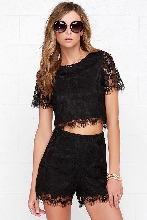 vendita scontata sconto del 50 100% autentico Black Shorts - Lace Short - High-Waisted Shorts - $34.00