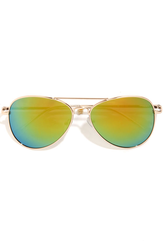 Number One Stunna Yellow Aviator Sunglasses at Lulus.com!