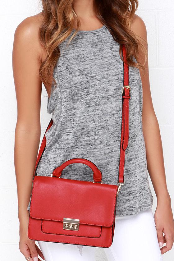 Chic Red Purse - Red Handbag - Vegan Leather Satchel -  34.00 e4943618e