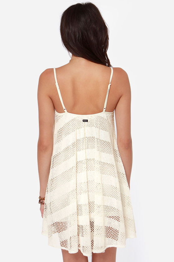 RVCA Bori Ivory Crochet Dress at Lulus.com!