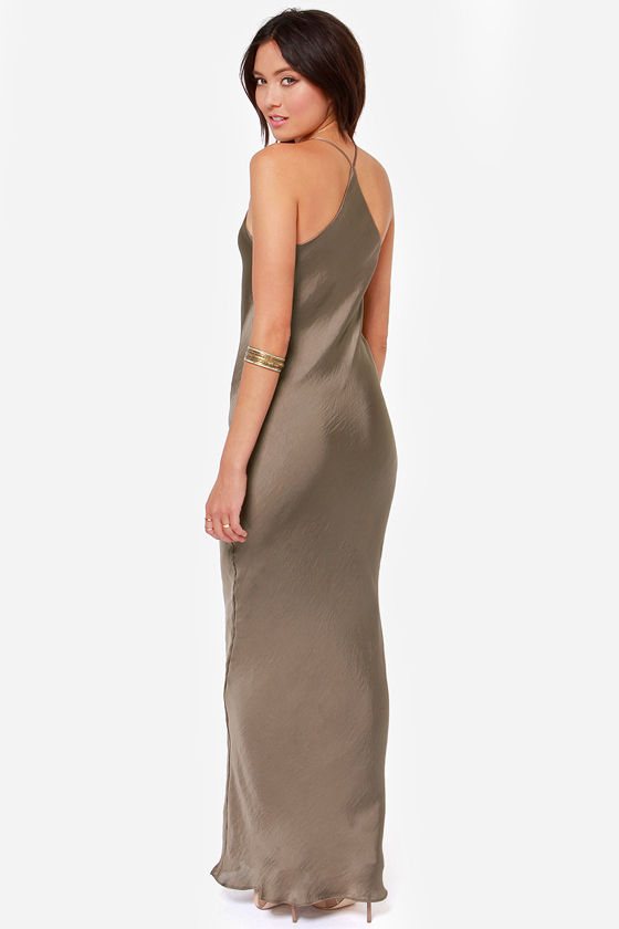 It Must Be Love Sable Brown Maxi Dress at Lulus.com!