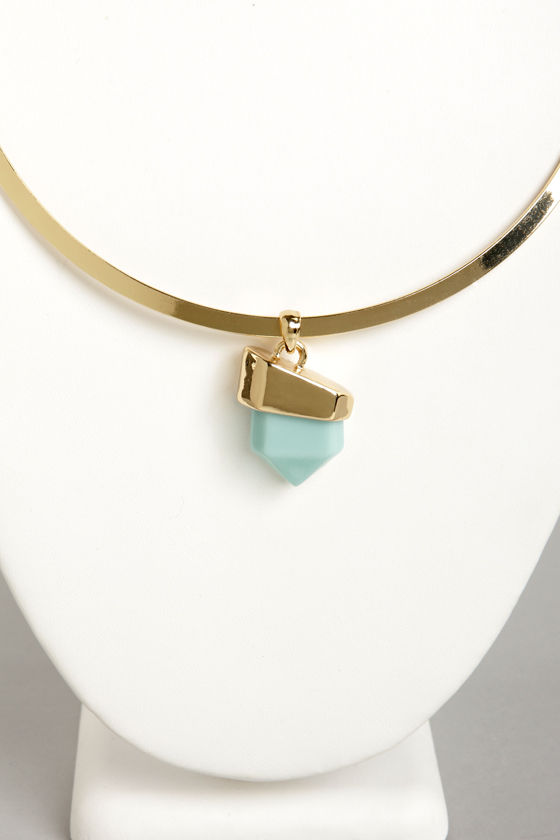 Rock My World Blue Necklace at Lulus.com!