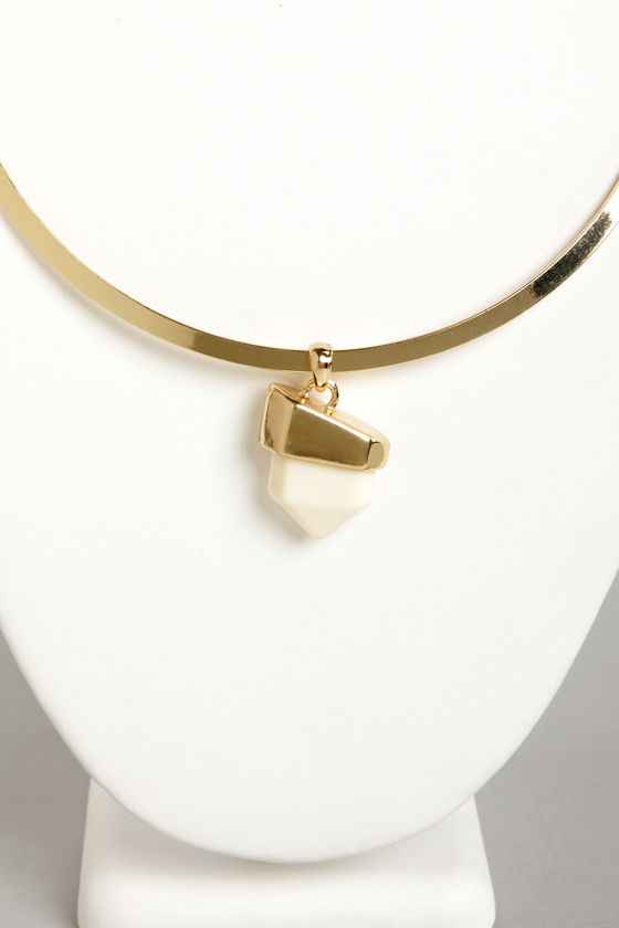 Rock My World Cream Necklace at Lulus.com!