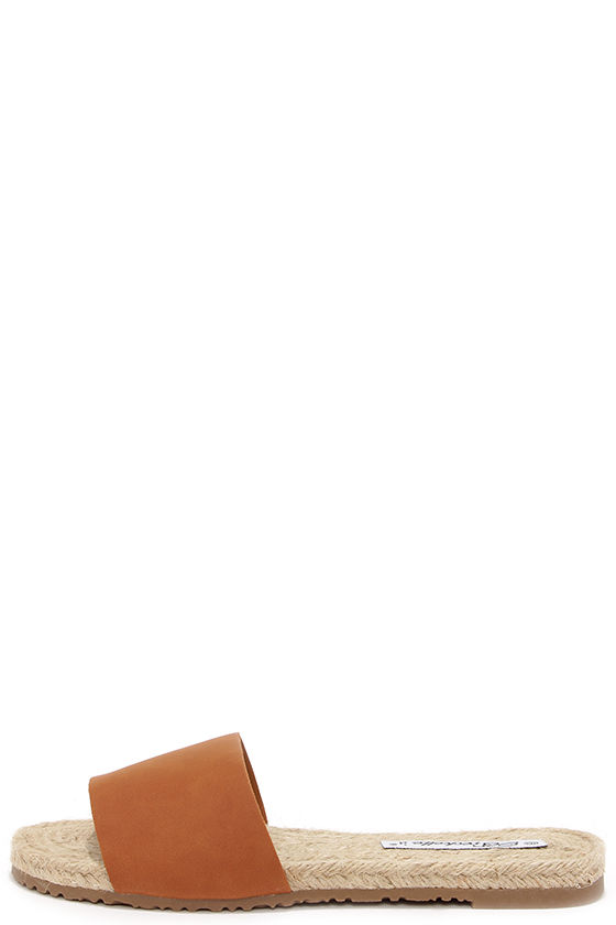 60aef46f574d Cute Tan Sandals - Espadrille Sandals - Slide Sandals -  17.00
