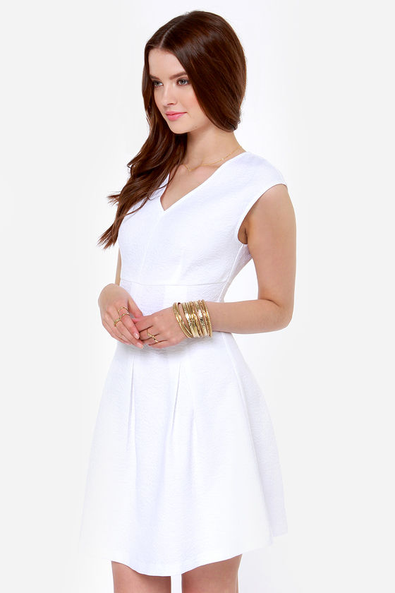 I. Madeline Think Swank White Dress at Lulus.com!