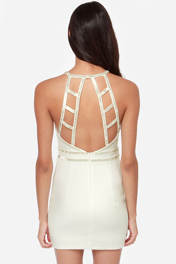 Up to Bead Ivory Beaded Dress at Lulus.com!