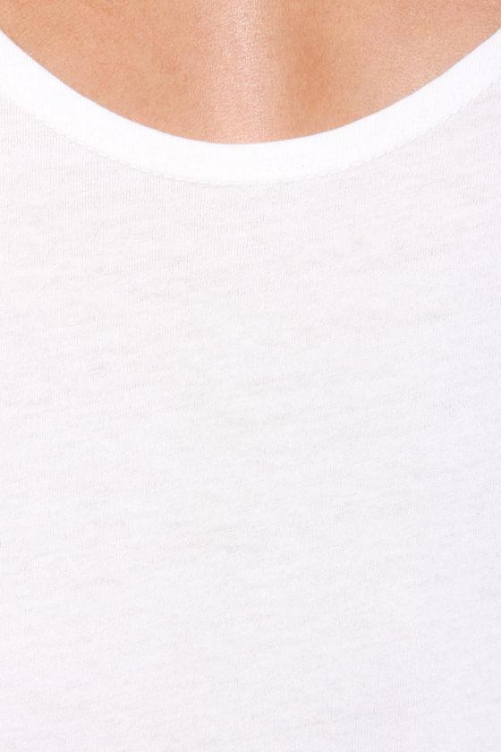 RVCA Label Drape Ivory Tank Top at Lulus.com!