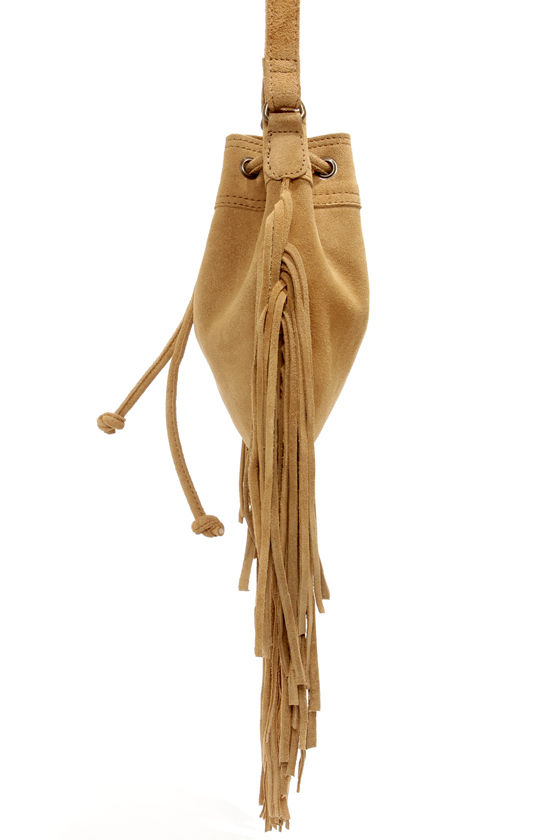 RVCA Piper Brown Suede Fringe Purse at Lulus.com!