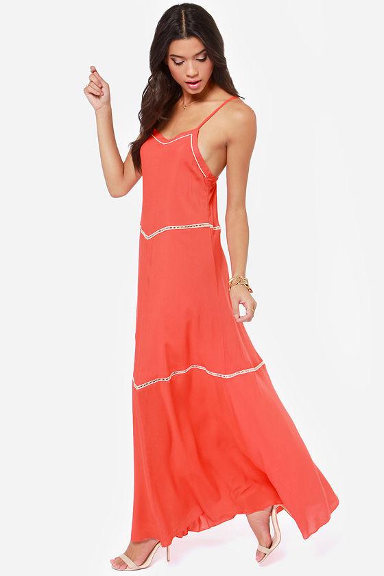 60aa15b7102 O Neill Birdie Dress - Coral Dress - Maxi Dress -  69.50