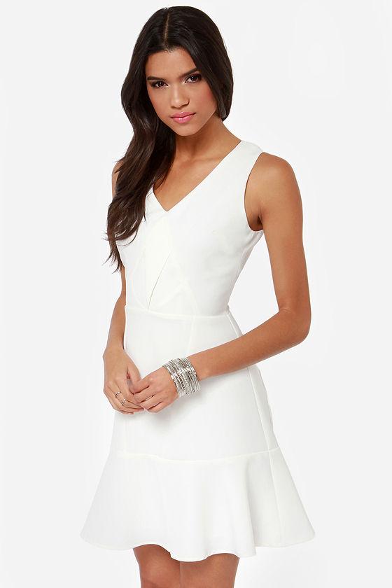 Aryn K Sugar High Ivory Dress at Lulus.com!
