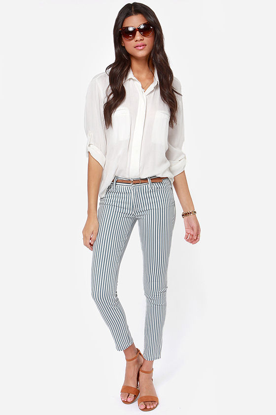 Cute Striped Pants Skinny Pants Skinny Jeans Striped