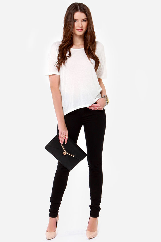 Obey Modern Lowback Backless Ivory Top at Lulus.com!