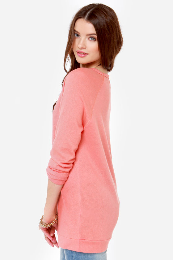 Obey Echo Mountain Coral Sweater Top at Lulus.com!