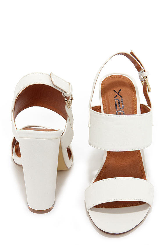 91cd8941383 Cute White Heels - High Heel Sandals -  32.00