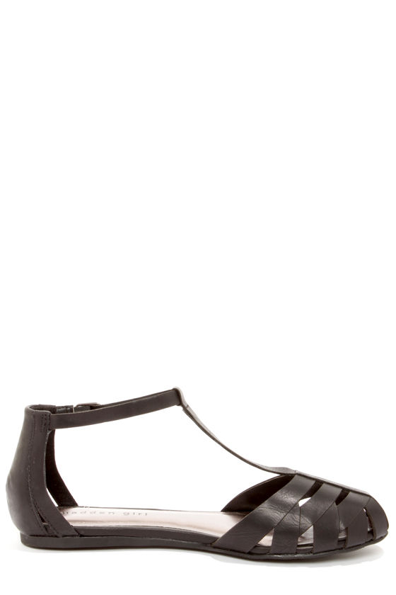 Madden Girl Stunt Black Sandals at Lulus.com!