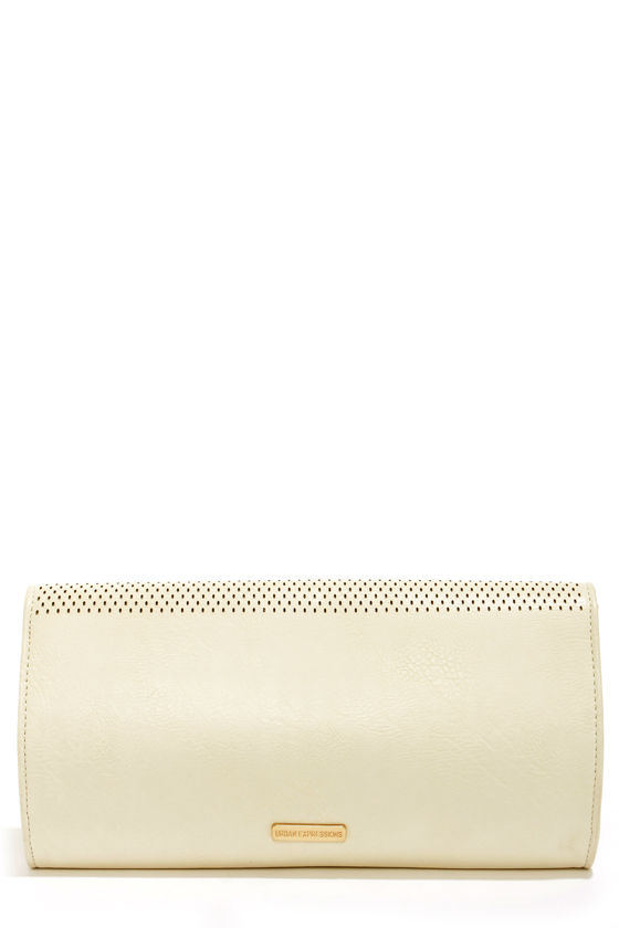 All For You Cutout Cream Clutch by Urban Expressions at Lulus.com!