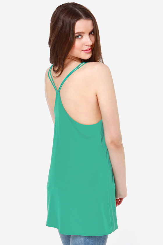 Make It Two Green Tank Top at Lulus.com!