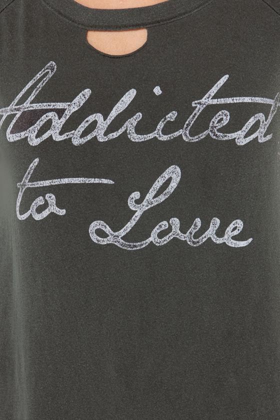 Chaser Love Child Distressed Black Tee at Lulus.com!