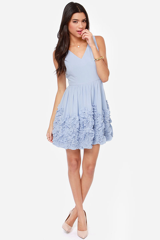 Out Of This Whirl Periwinkle Blue Dress 81 Fashion At Lulus Com