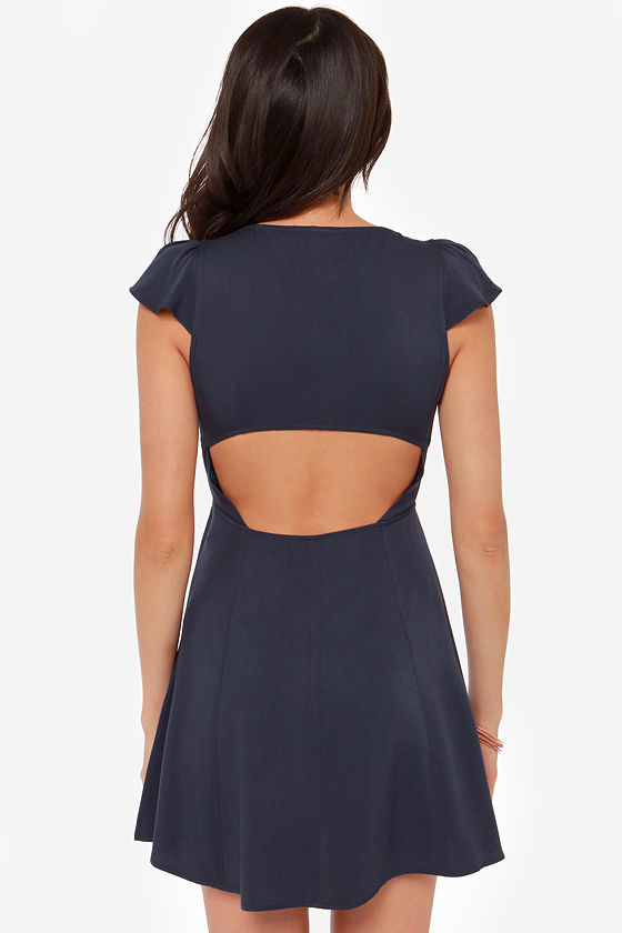LULUS Exclusive Tie Spell Navy Blue Dress at Lulus.com!