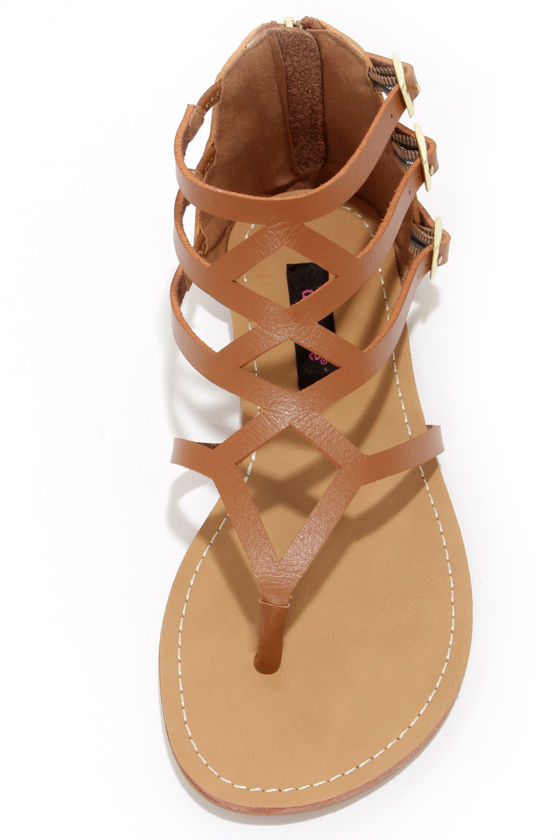 Dollhouse Athens Chestnut Gladiator Sandals at Lulus.com!
