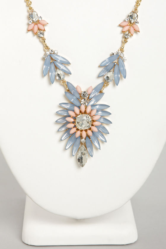 Carried Array Lavender Rhinestone Necklace at Lulus.com!