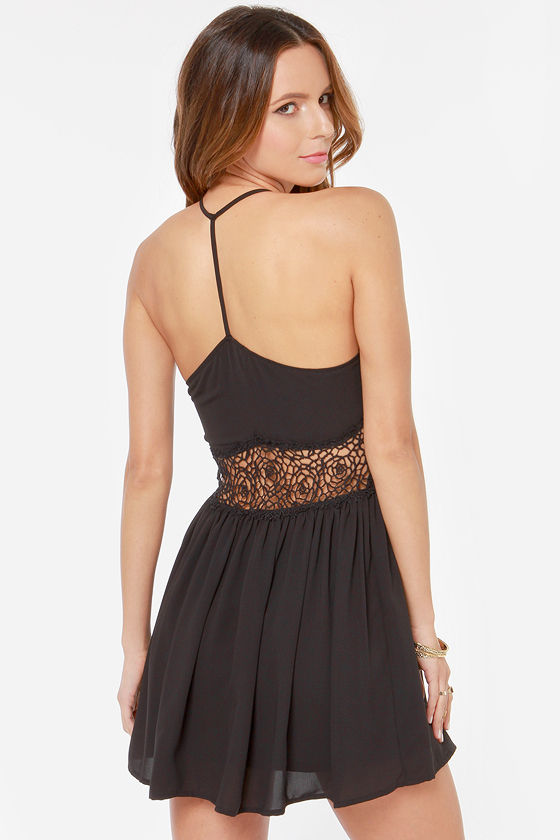 Playing Around Black Lace Dress at Lulus.com!