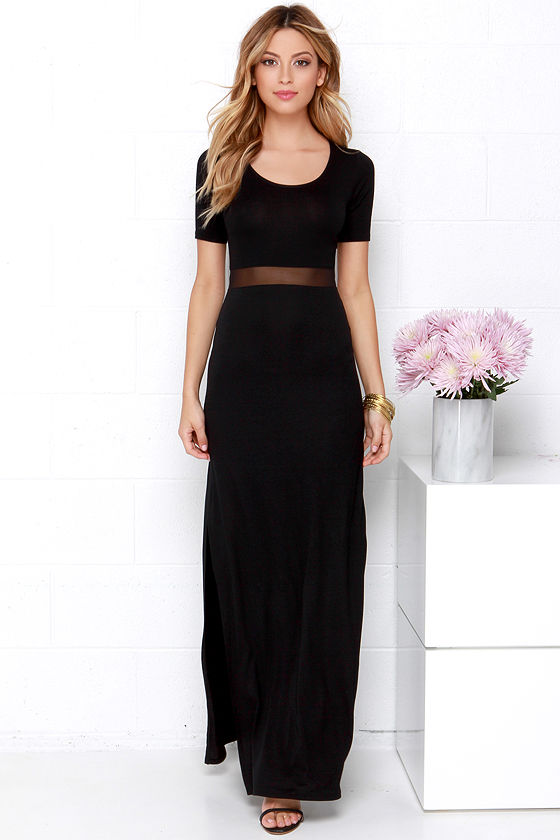Detail Oriented Black Maxi Dress 2