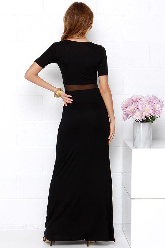Detail Oriented Black Maxi Dress 4