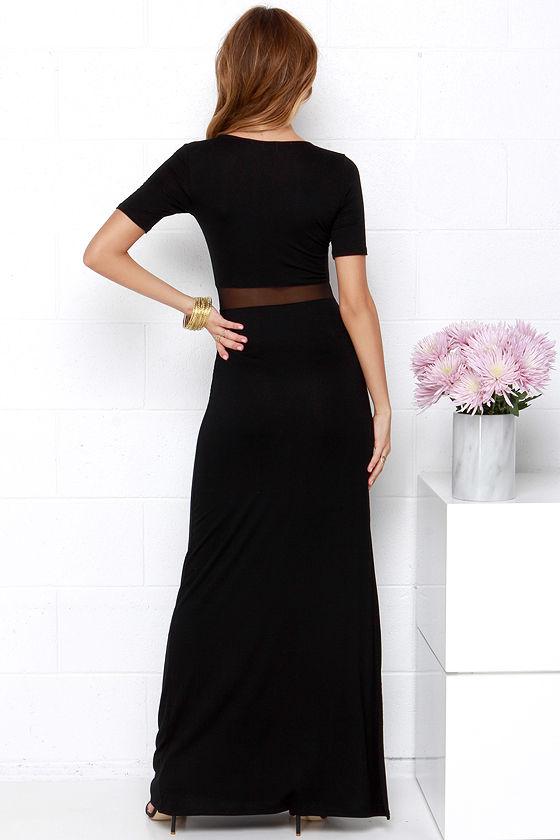 Detail Oriented Black Maxi Dress 4