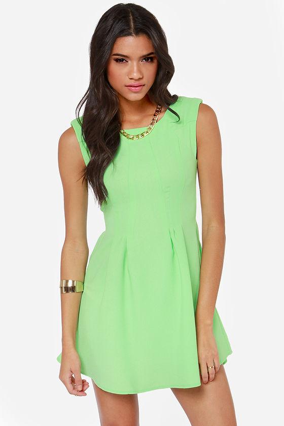 Cute Mint Dress - Skater Dress - 46.9KB