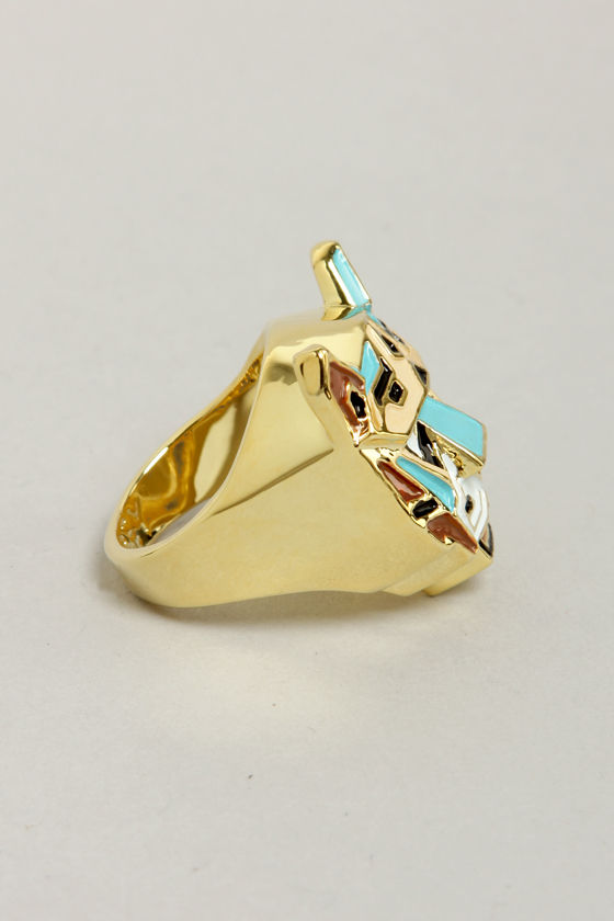 Obey Ratana Gold Tiger Ring at Lulus.com!