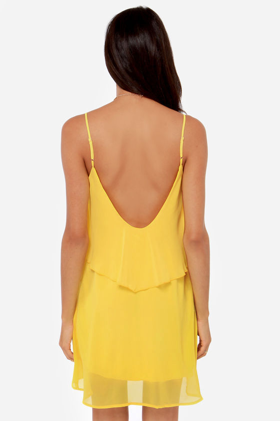 Tier, There, and Everywhere Yellow Dress at Lulus.com!