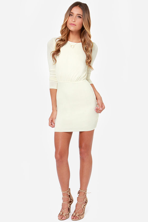 LULUS Exclusive Uptown Bound Cutout Cream Dress at Lulus.com!